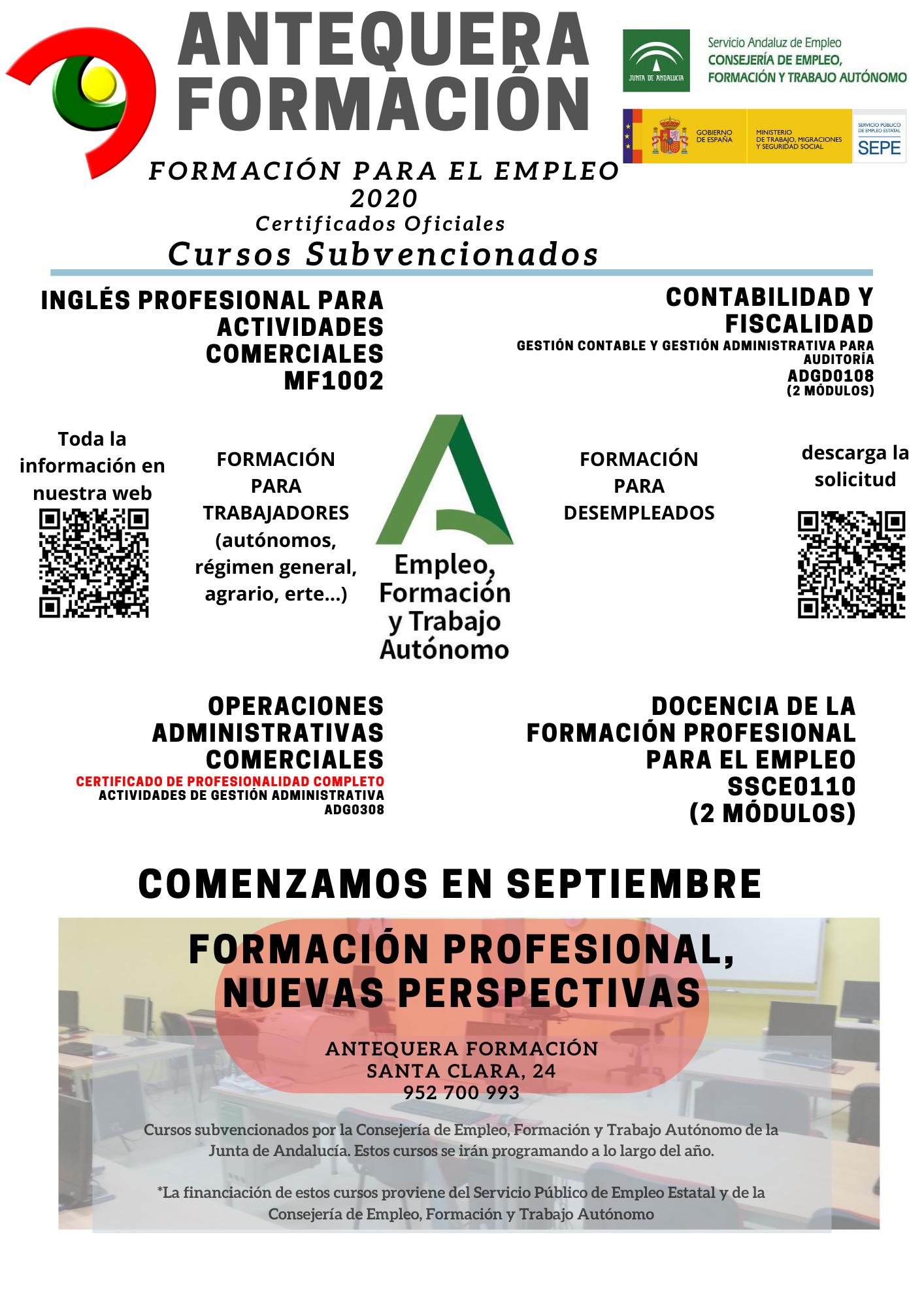 Aforweb Antequera Formacion Certificados De Profesionalidad Oficiales En Antequera Formacion